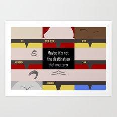 Maybe it's not the Destination that matters - Star Trek: Voyager VOY startrek trektangle minimalist Art Print