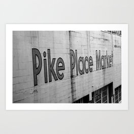 Seattle Pike Place Art Print