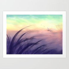 Goodmorning dragonfly Art Print