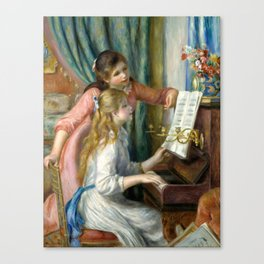 """Auguste Renoir """"Two Young Girls at the Piano"""" Canvas Print"""