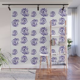 Purple Roses Wall Mural