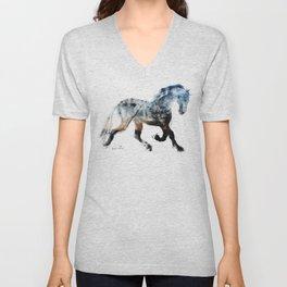 Horse (Summer Friesian) Unisex V-Neck