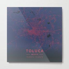 Toluca, Mexico - Neon Metal Print