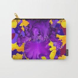 Decorative Modern Golden Iris Purple Iris Color Pattern  Art Carry-All Pouch