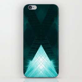 Turquoise skyscraper mill V WH iPhone Skin