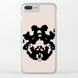 Black Rorschach inkblot Clear iPhone Case