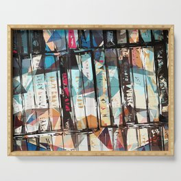Musical Cassette Tapes Collage Serving Tray