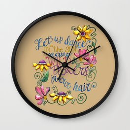 Let Us Dance III Wall Clock