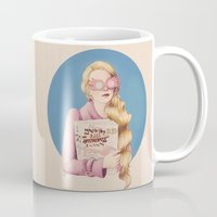 luna lovegood Mugs featuring Luna II by Inflomora