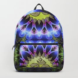 Om Shanti Fractal Geometry series #1 Backpack