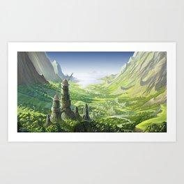 The Valley of the Wind, Nausicaa Art Print