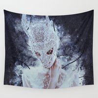 nightmare Wall Tapestries featuring Nightmare by Kryseis Retouche