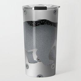 Metal Polar Bear Travel Mug