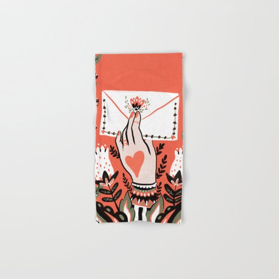 Love Letter Hand & Bath Towel