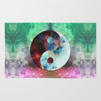 ying yang Area & Throw Rugs featuring Ying-Yang Galaxy by FC Design