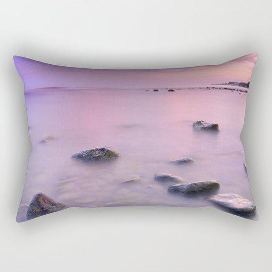 """Pink Sunset. Mediterranean sea."" Rectangular Pillow"