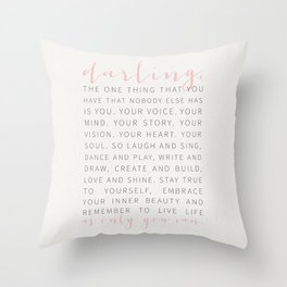 Darling... Throw Pillow