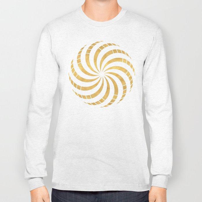 GOLD TORUS circular sacred geometry Long Sleeve T-shirt