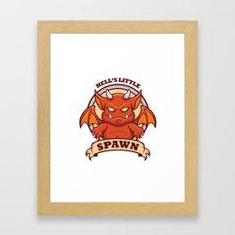 Little Red Devil Framed Art Print