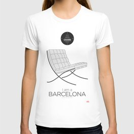 Mies' Barcelona chair (minimalistic version) T-shirt