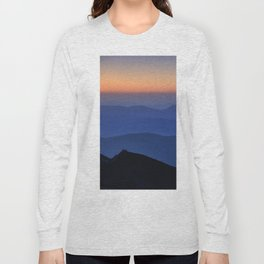 Sierra Nevada. Sunset at the mountains. Astronomical Observatory at 3000 meters Long Sleeve T-shirt