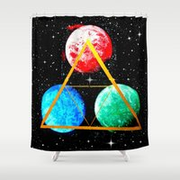 triforce Shower Curtains featuring Triforce by AbstractAnomaly