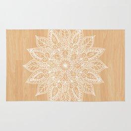 Leaf mandala - wood Rug
