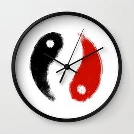 Minimalism Koi Yin Yang Patern Wall Clock