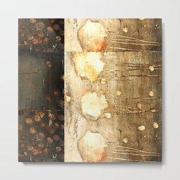 Brown and Beige Metal Print
