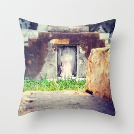 Girl Forever Entombed Throw Pillow
