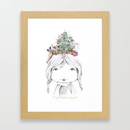 Christmas on my mind Framed Art Print