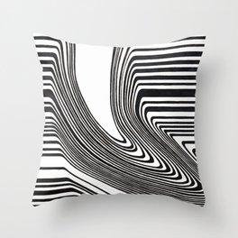 Spilled barcode Throw Pillow