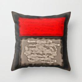 Red Rectangle Throw Pillow