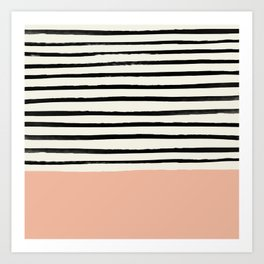 Peach x Stripes Art Print