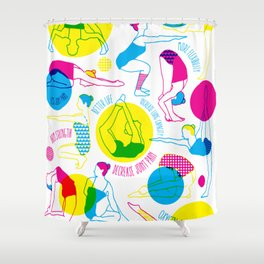 Yoga Poses  Shower Curtain
