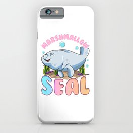Cute & Funny Manatees The Marshmallow Seal Ocean iPhone Case