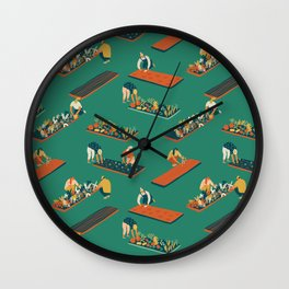 Secret garden Wall Clock