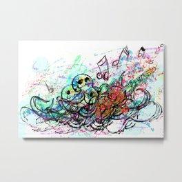 Rockin Octopus Metal Print
