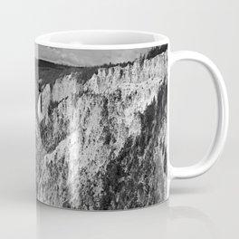 Lower Falls black and white Coffee Mug