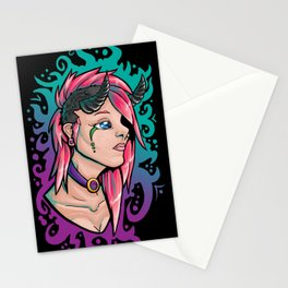 Pink Demon Stationery Cards