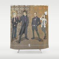 sherlock Shower Curtains featuring Sherlock by Fernando Cano Zapata