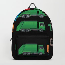 4 Year Old Garbage Boy Truck 4th Birthday Backpack