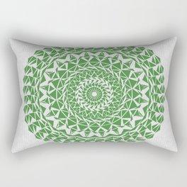 Mandala Green on Japanese Rice Paper Rectangular Pillow