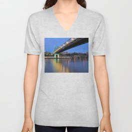 Christmas Bridge Unisex V-Neck