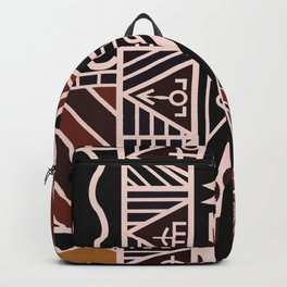 African Tribal Pattern No. 38 Backpack