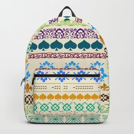 Swedish Sunshine Folk Art Backpack