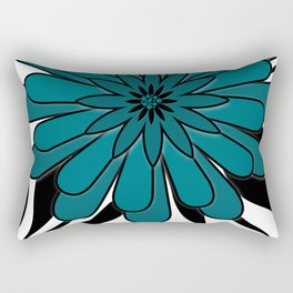 Blue flower . Rectangular Pillow