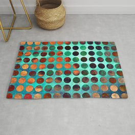 MELANGE of Cyan and Rust Rug