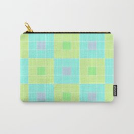 square pattern Carry-All Pouch