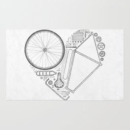 Love Bike (Grey) Rug